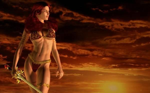 Valkyrie Digital Art - Valkyrie Sunset by Kaylee Mason