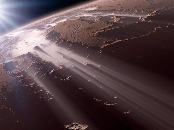 Aerial View Digital Art - Valles Marineris, Mars, Artwork by Detlev Van Ravenswaay