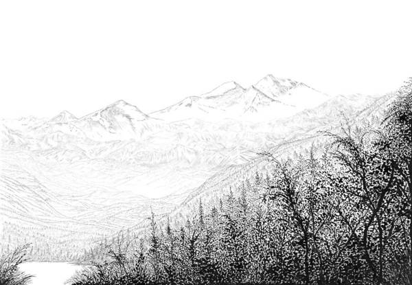 Drawing - Valley by Carl Genovese