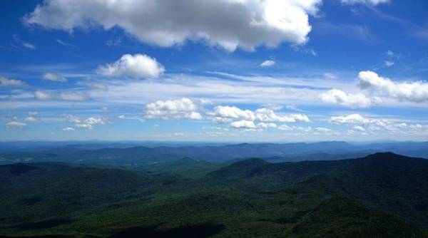 Waterbury Photograph - Valley From Camels Hump by Jennifer Colombo