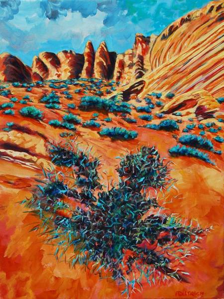 Valley Of Fire Painting - Valley Of Fire 1 by Faye Dietrich