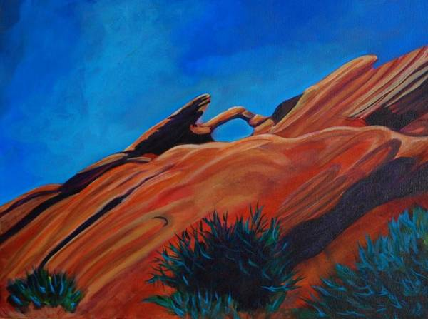Valley Of Fire Painting - Valley Of Fire 4 by Faye Dietrich