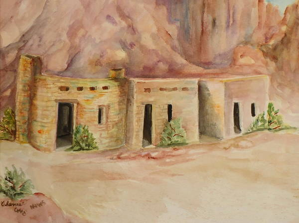 Valley Of Fire Painting - Valley Of Fire Cabins by Charme Curtin