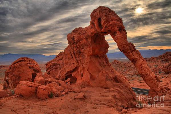 Photograph - Valley Of Fire Elephant Sunrise by Adam Jewell