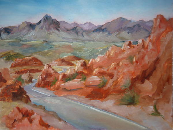 Valley Of Fire Painting - Valley Of Fire by Luz Perez