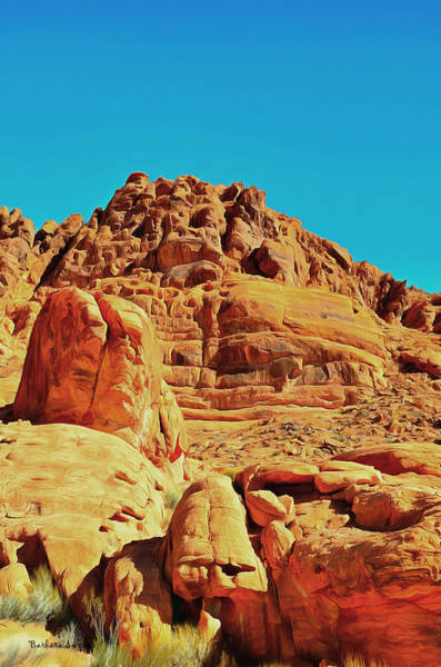 Valley Of Fire Painting - Valley Of Fire Nevada State Park 2 by Barbara Snyder