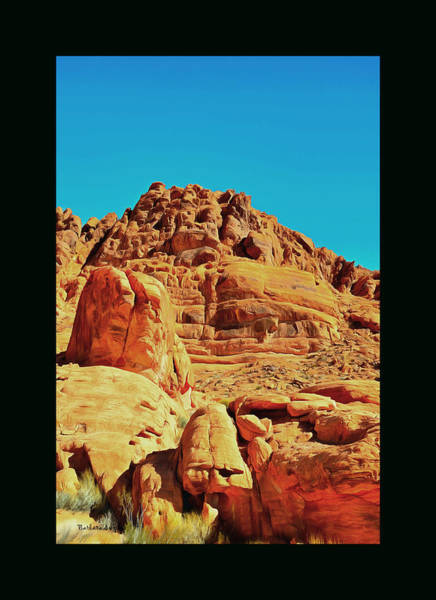 Valley Of Fire Painting - Valley Of Fire Nevada State Park 2 Duvet by Barbara Snyder