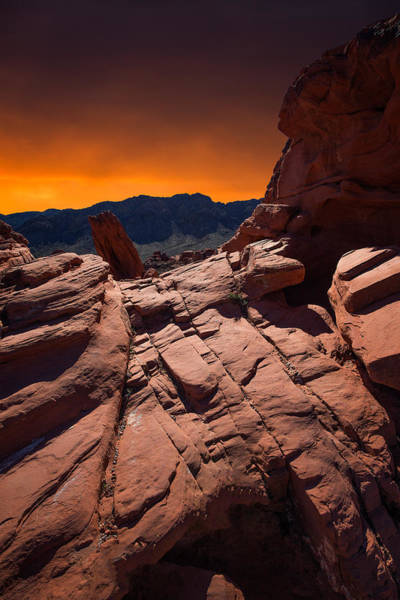 Photograph - Valley Of Fire by Roland Shainidze Photogaphy