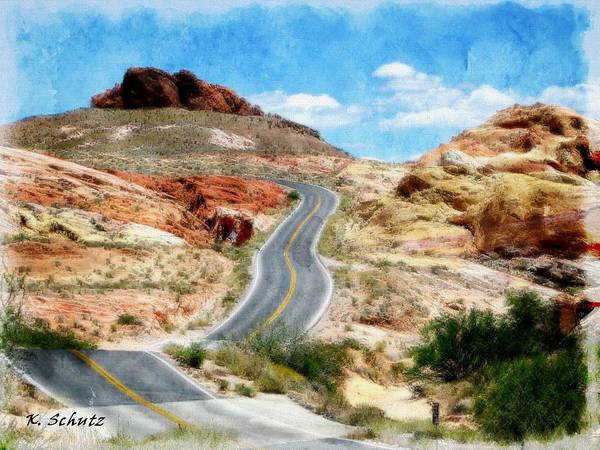 Valley Of Fire State Park Digital Art - Valley Of Fire State Park by Kelly Schutz