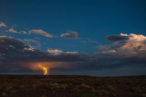 Lightning Strike Photograph - Valley Of The Gods Utah by Steve Gadomski