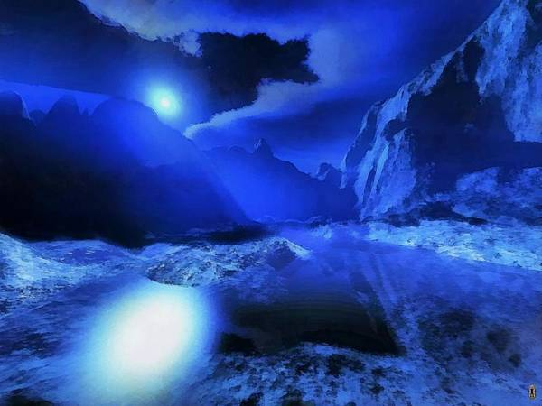 Fractal Landscape Digital Art - Valley Of The Night Land by Mario Carini