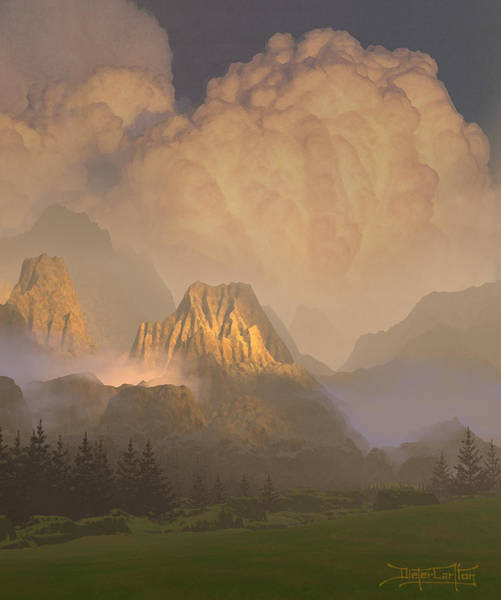 Painting - Valley Of The Shadow Of Life by Dieter Carlton
