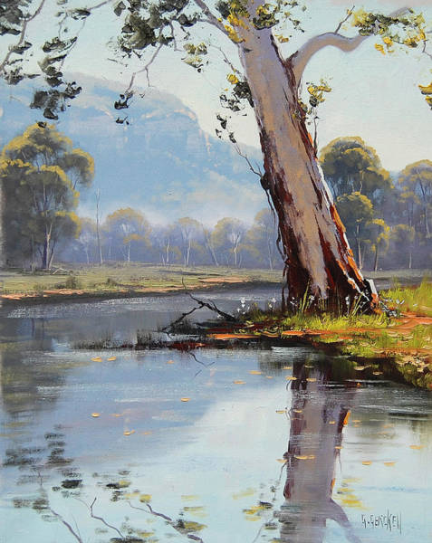 Old Tree Painting - Valley River by Graham Gercken