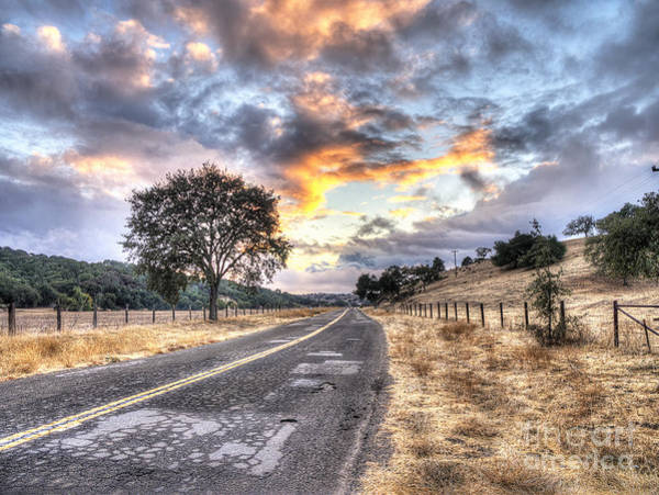 Figueroa Mountain Photograph - Valley Road by Jayson Phillips
