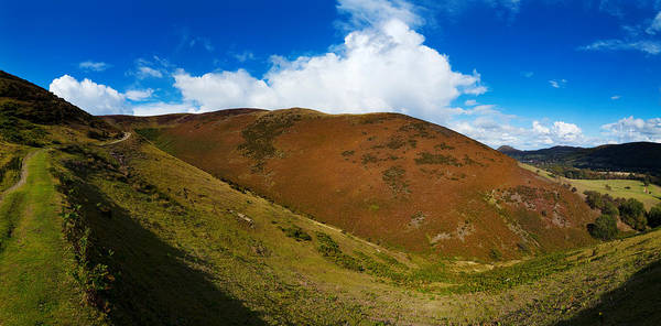 Moorland Photograph - Valley To Hopes Wood, Little Stretton by Panoramic Images