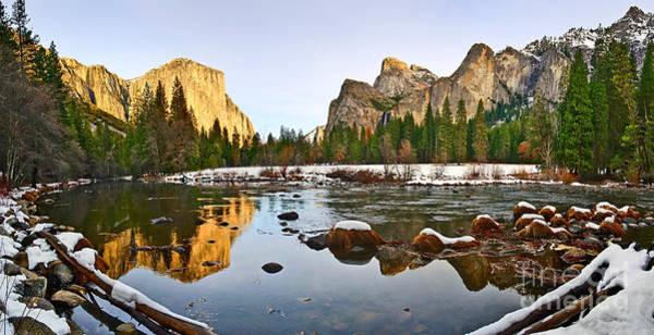 Yosemite Half Dome Wall Art - Photograph - Vally View Panorama - Yosemite Valley. by Jamie Pham