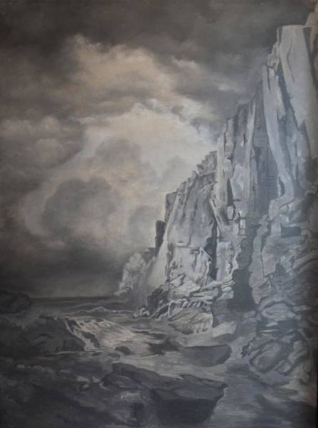 Wall Art - Painting - Value Study Of A William Trost Richards Painting by Roena King