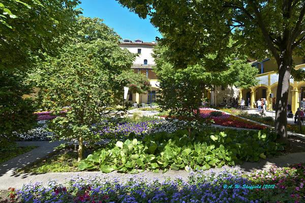 Photograph - Van Gogh - Courtyard In Arles by Allen Sheffield