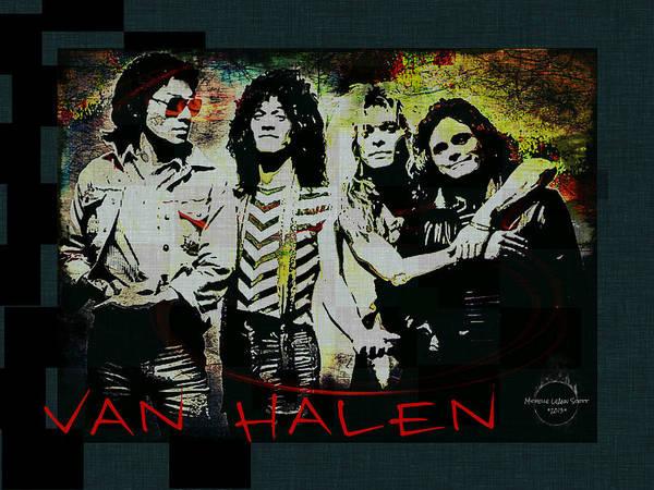 Eddie Digital Art - Van Halen - Ain't Talkin' 'bout Love by Absinthe Art By Michelle LeAnn Scott