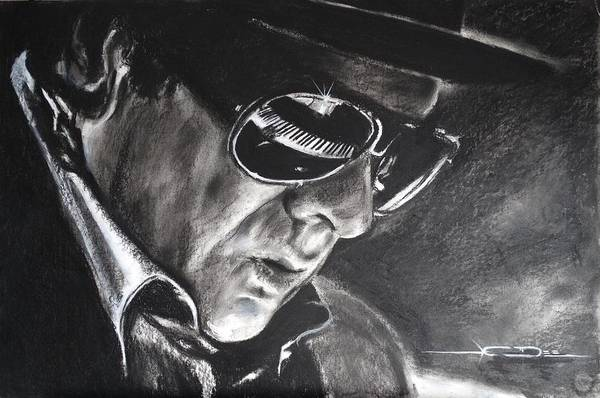 Drawing - Van Morrison -  Belfast Cowboy by Eric Dee