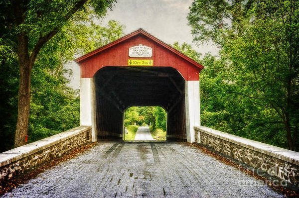 Photograph - Van Sandt Bridge II by Debra Fedchin