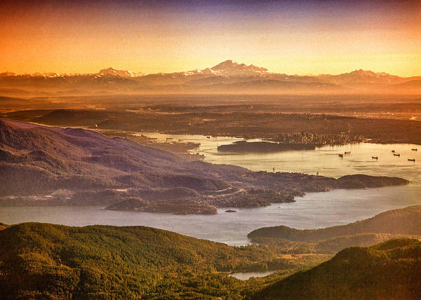 Metro Vancouver Wall Art - Photograph - Vancouver And Mt Baker Aerial View by Eti Reid