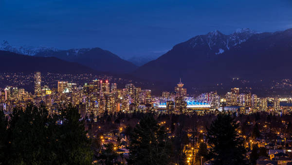 Photograph - Vancouver At Night by Pierre Leclerc Photography