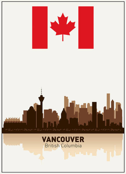 Vancouver Digital Art - Vancouver British Columbia Canada by Daniel Hagerman