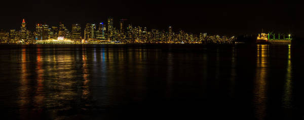 Photograph - Vancouver By Night by Brad Koop