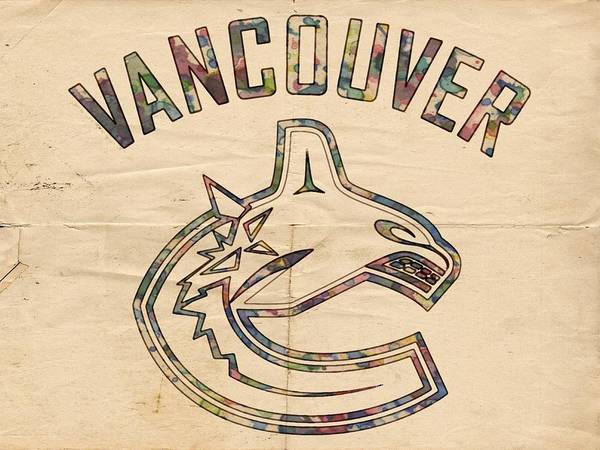 Painting - Vancouver Canucks Logo Art by Florian Rodarte