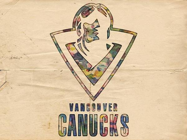 Painting - Vancouver Canucks Vintage Poster by Florian Rodarte
