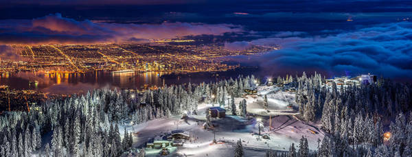 Favourite Wall Art - Photograph - Vancouver City Panorama From Grouse Mountain  by Pierre Leclerc Photography
