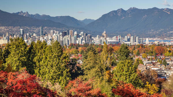 Metro Vancouver Wall Art - Photograph - Vancouver City Showing Its Autumn Colors by Pierre Leclerc Photography