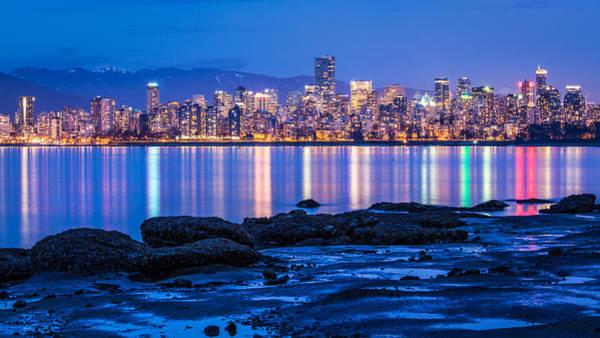 Photograph - Vancouver City Twilight From Jericho Beach by Pierre Leclerc Photography