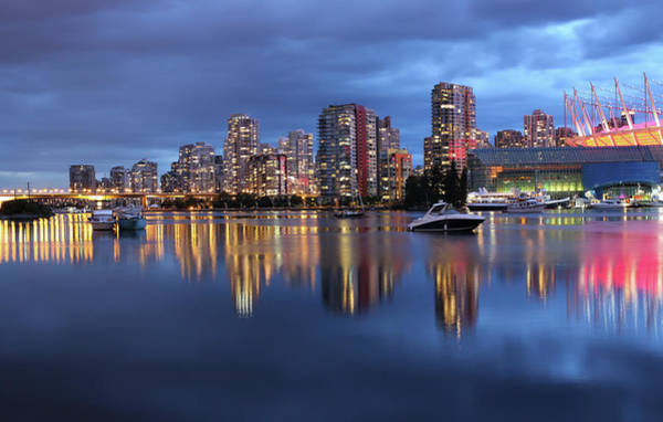 False Creek Wall Art - Photograph - Vancouver False Creek Reflections by Kim Rogerson