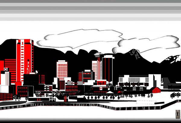 Vancouver City Digital Art - Vancouver Graphic Illustration by Mario Carini