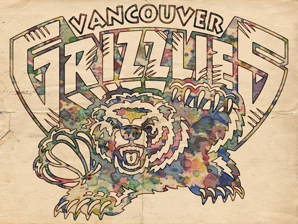 Painting - Vancouver Grizzlies Retro Poster by Florian Rodarte