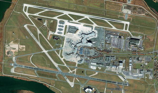 Vancouver International Airport Wall Art - Photograph - Vancouver International Airport by Geoeye/science Photo Library