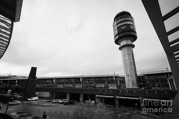 Vancouver International Airport Wall Art - Photograph - Vancouver International Airport Terminal And Control Tower Bc Canada by Joe Fox