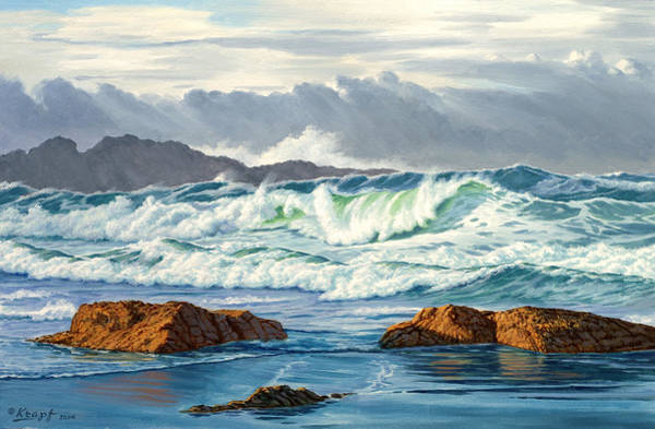 Pacific Wall Art - Painting - Vancouver Island Surf by Paul Krapf