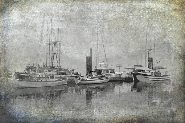 Photograph - Vancouver Island With Sailboats And Fishing Boats In A Misty Harbor by Randall Nyhof