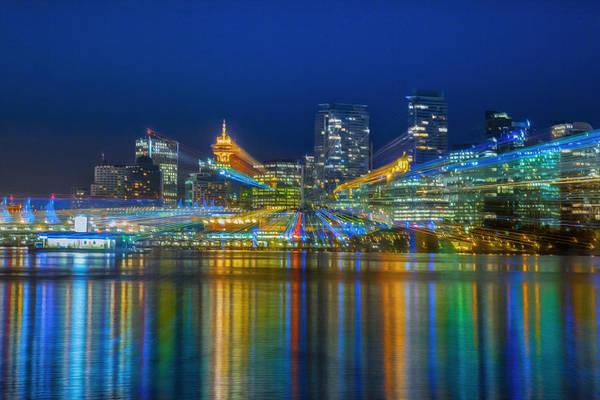 Vancouver Skyline Digital Art - Vancouver Lights by Jodi Jacobson