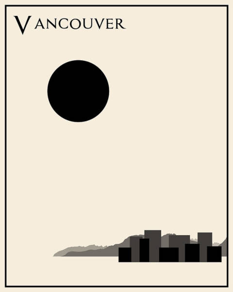 Vancouver Digital Art - Vancouver Minimalist Travel Poster by Finlay McNevin