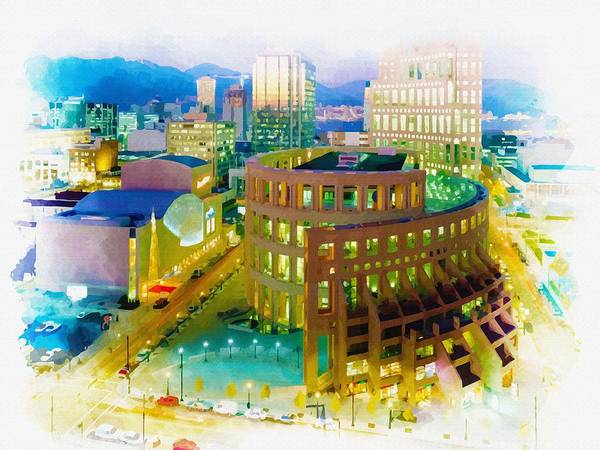 City Of Vancouver Digital Art - Vancouver Public Library by Don Kuing