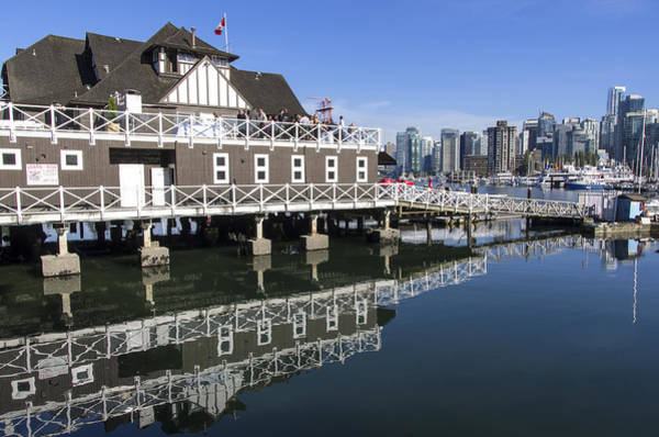 Photograph - Vancouver Rowing Club And City Skyline by Ross G Strachan