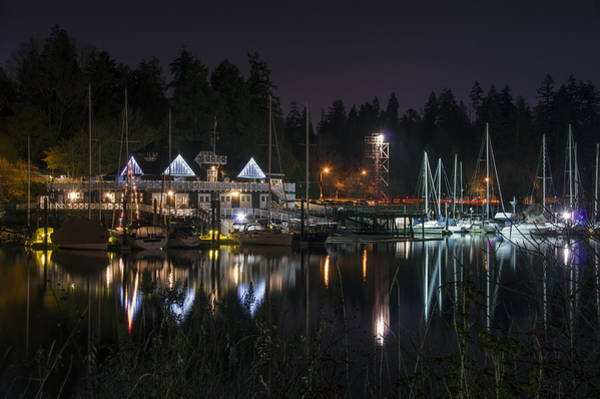 Photograph - Vancouver Rowing Club By Night by Ross G Strachan