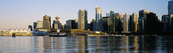 False Creek Wall Art - Photograph - Vancouver Skyline At Dusk, British by Panoramic Images