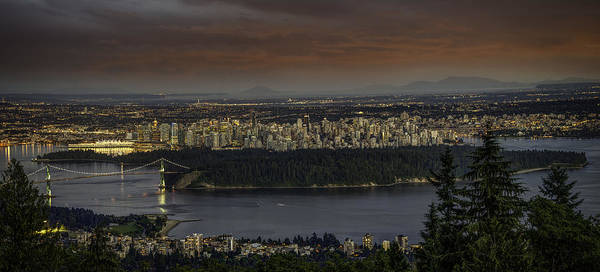 Vancouver City Photograph - Vancouver Sunset by Alexander Hill