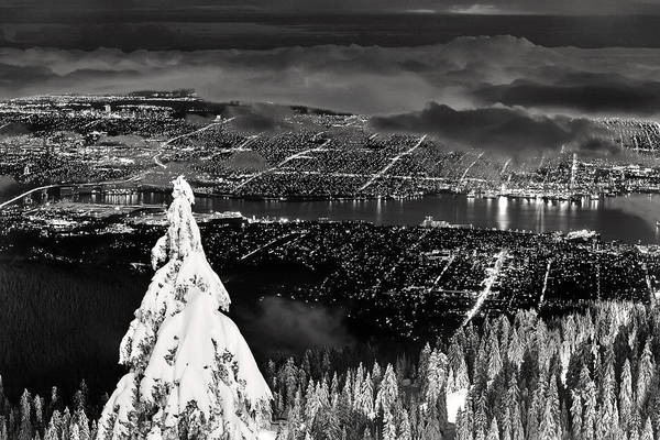 Photograph - Vancouver Winter Cityscape by Pierre Leclerc Photography