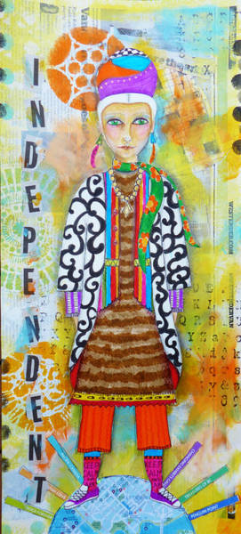 Vancouver Mixed Media - Vancouver Woman by Lynn Colwell